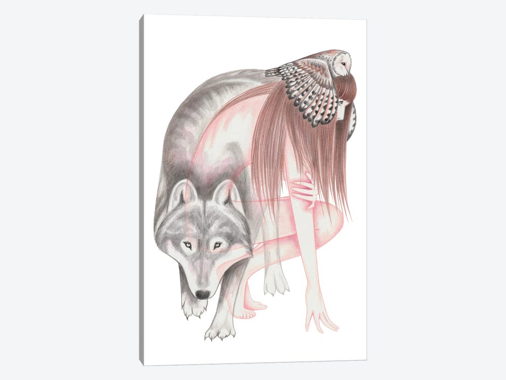 When Wolves Become Birds by Andrea Hrnjak 1-piece Canvas Wall Art