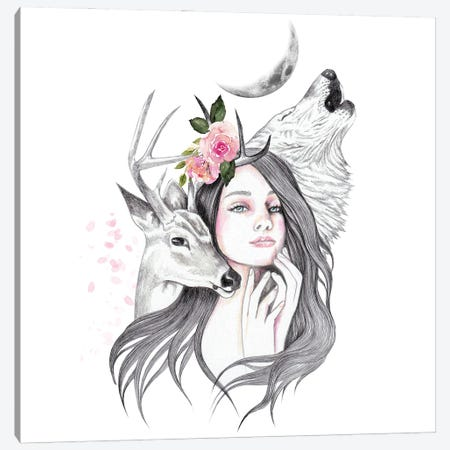 Forest Witch Canvas Print #AHR120} by Andrea Hrnjak Canvas Wall Art