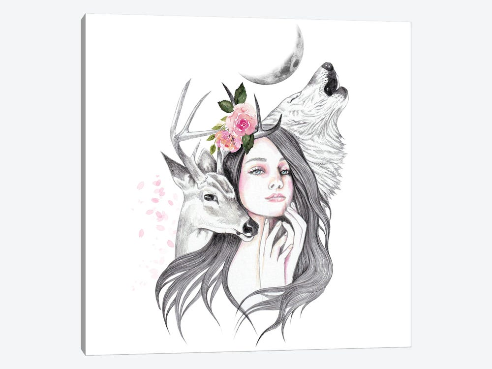 Forest Witch by Andrea Hrnjak 1-piece Art Print
