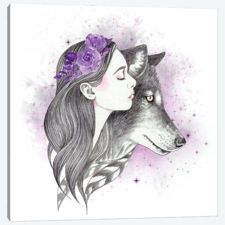 Shadow Moon Canvas Print #AHR123} by Andrea Hrnjak Canvas Art