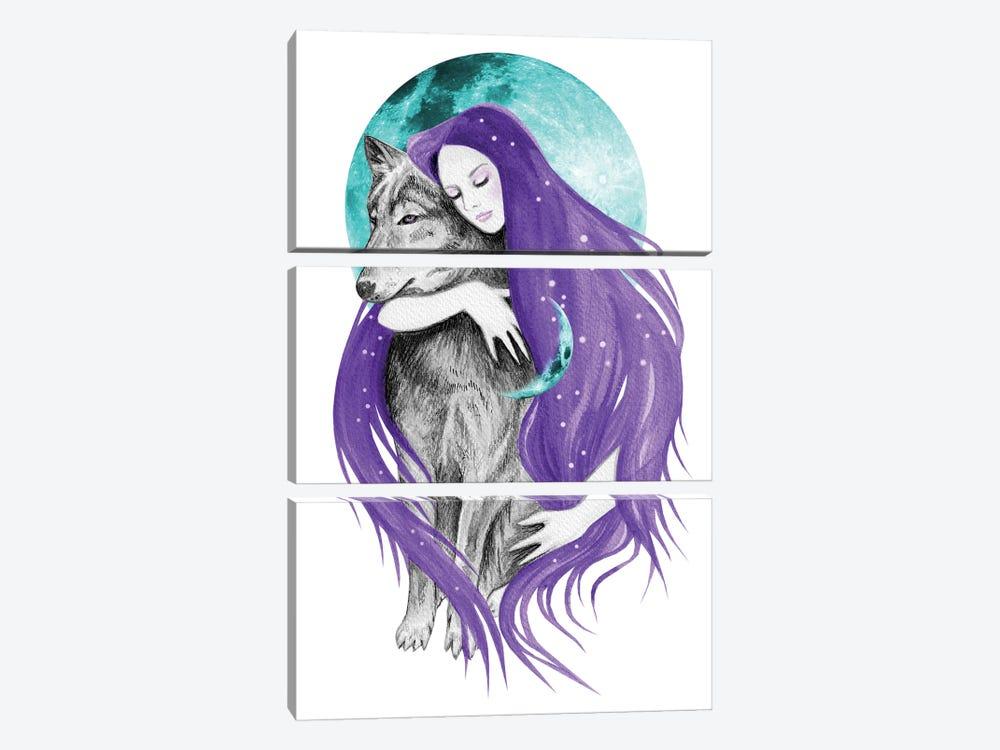 Midnight Dreamer by Andrea Hrnjak 3-piece Canvas Wall Art