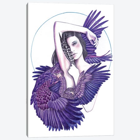Eagle Woman Canvas Print #AHR12} by Andrea Hrnjak Canvas Print