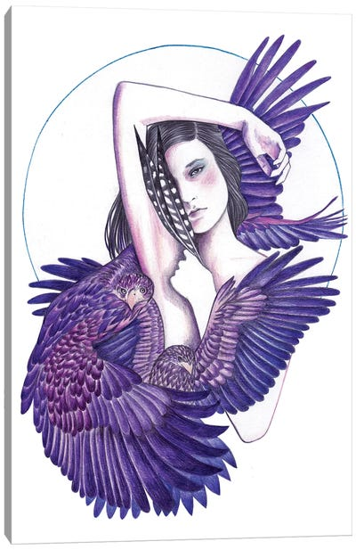 Eagle Woman Canvas Art Print