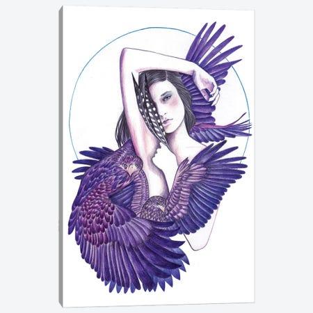 Eagle Woman Canvas Print #AHR12} by Andrea Hrnjak Canvas Print