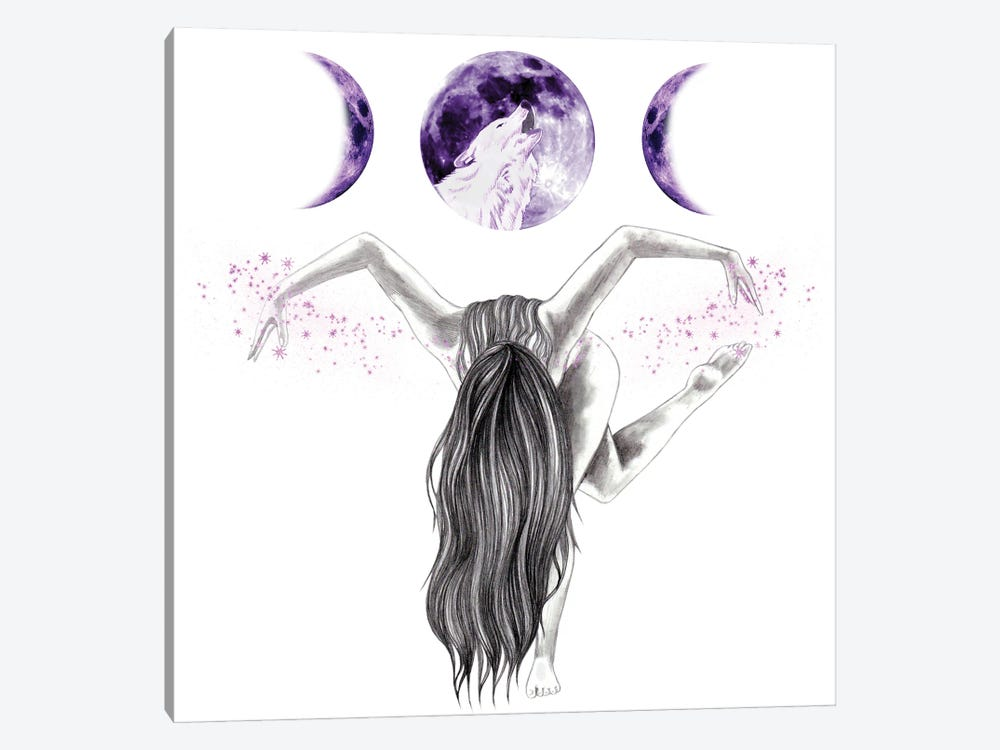 Midnight Dancer by Andrea Hrnjak 1-piece Canvas Art Print