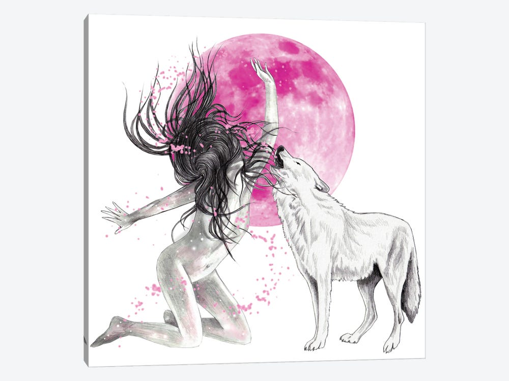 Strawberry Moon by Andrea Hrnjak 1-piece Canvas Artwork