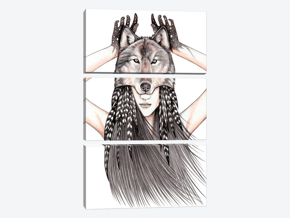 Feral Heart by Andrea Hrnjak 3-piece Art Print