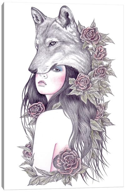 Heart Of The Wolf Canvas Art Print