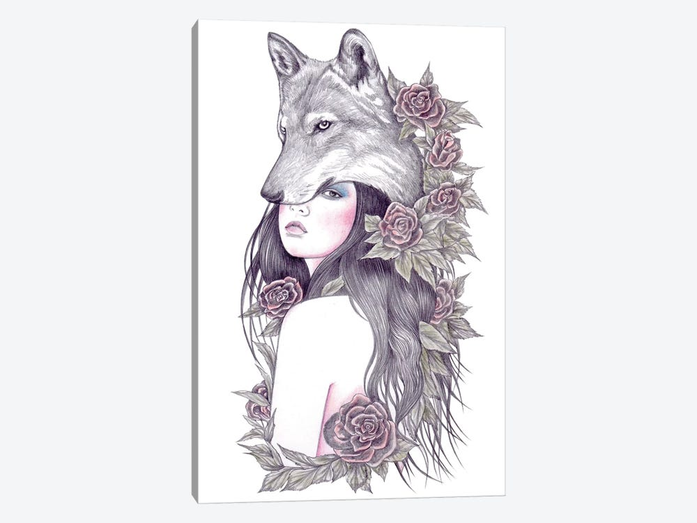 Heart Of The Wolf by Andrea Hrnjak 1-piece Canvas Art Print
