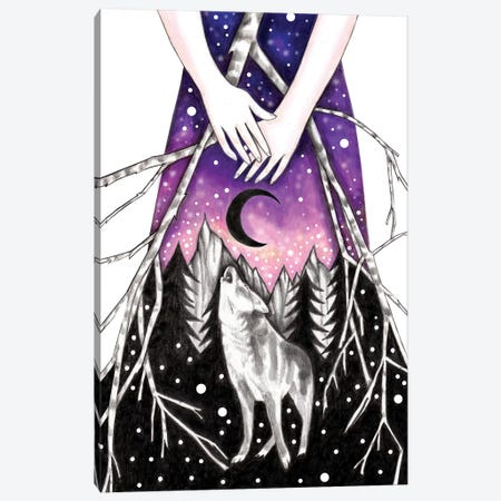Lone Wolf Canvas Print #AHR16} by Andrea Hrnjak Canvas Wall Art