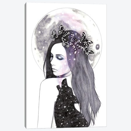 Looking For The Stars Canvas Print #AHR17} by Andrea Hrnjak Canvas Wall Art