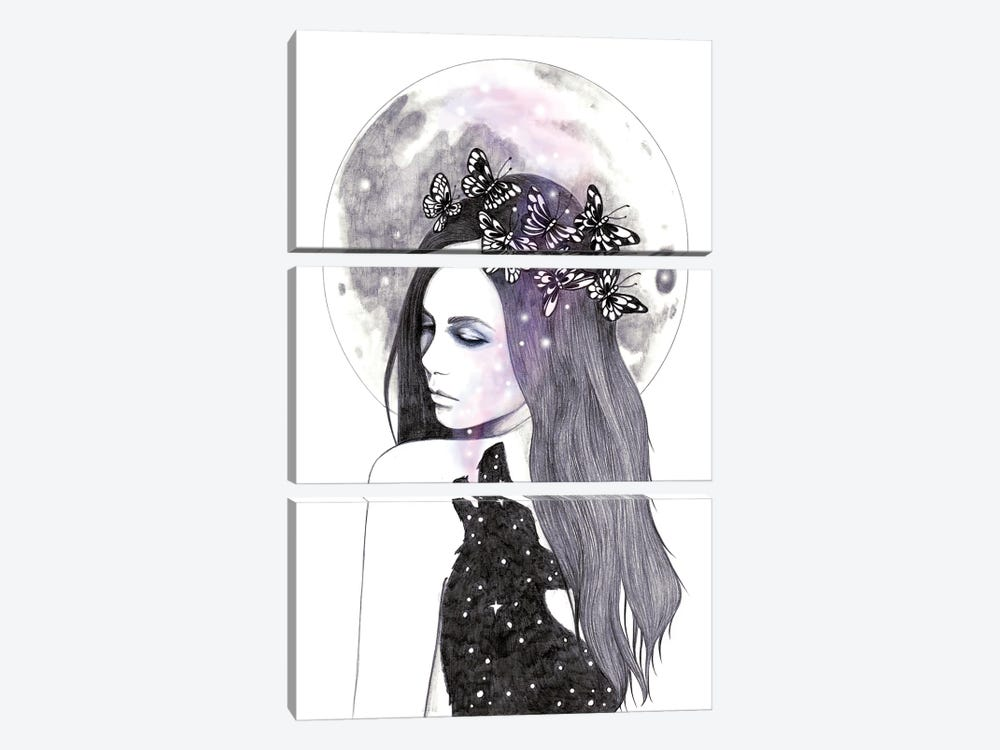 Looking For The Stars by Andrea Hrnjak 3-piece Canvas Art Print