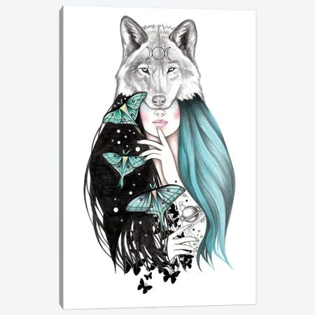 Luna Canvas Print #AHR19} by Andrea Hrnjak Art Print