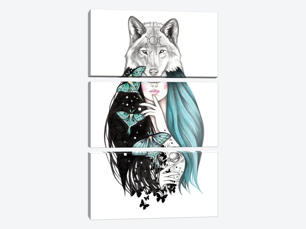 Luna by Andrea Hrnjak 3-piece Canvas Print