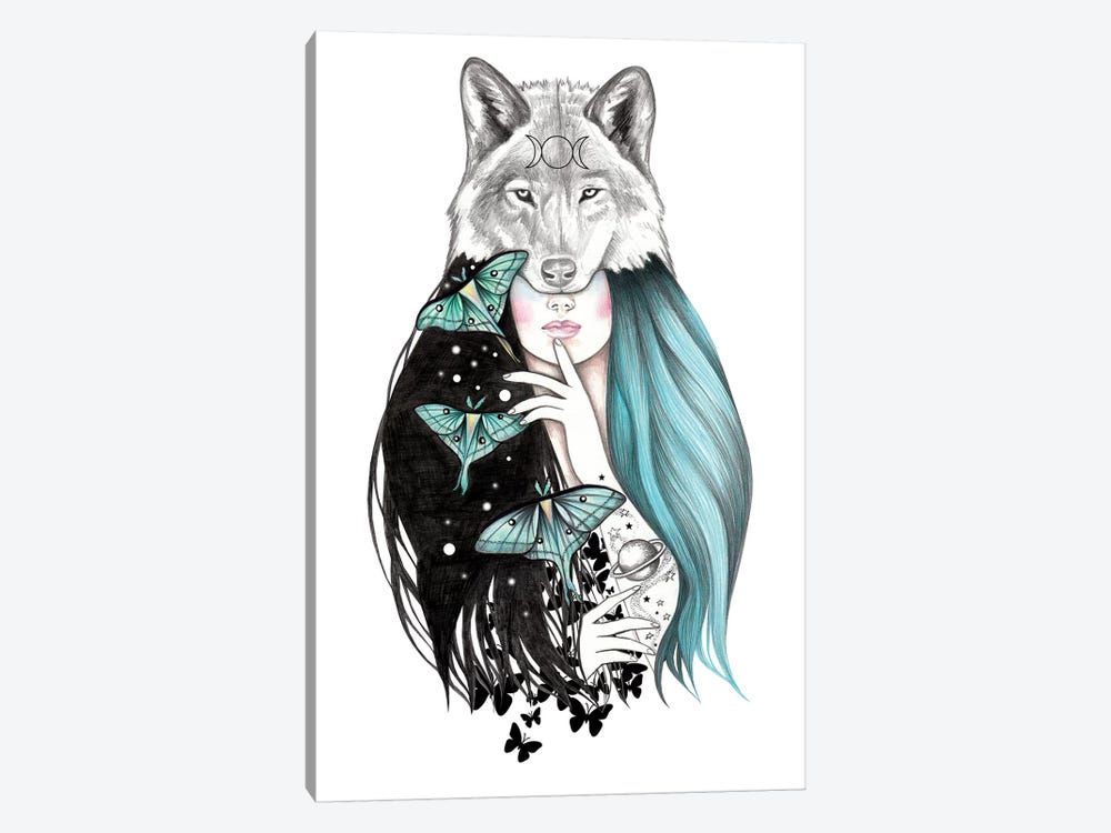Luna by Andrea Hrnjak 1-piece Canvas Print