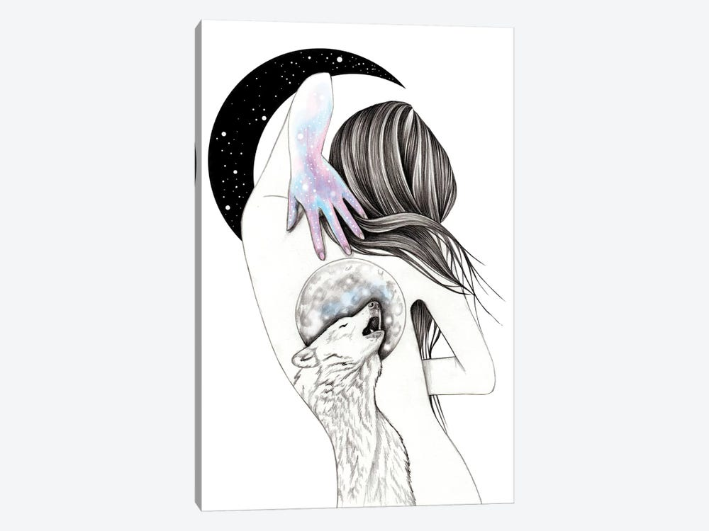 Moon Coven by Andrea Hrnjak 1-piece Canvas Print