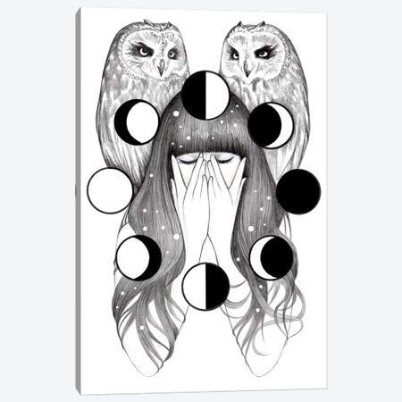 Moon Spells Canvas Print #AHR21} by Andrea Hrnjak Canvas Wall Art