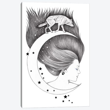 Moonwalker Canvas Print #AHR22} by Andrea Hrnjak Canvas Art