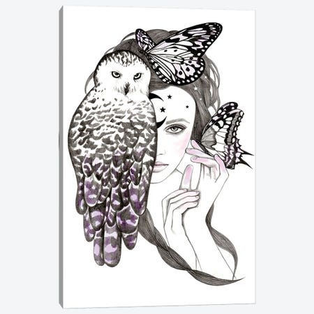 Night Owl Canvas Print #AHR24} by Andrea Hrnjak Art Print