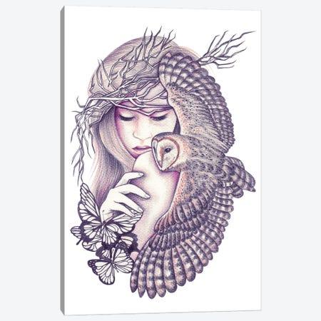 Owl Spirit Canvas Print #AHR27} by Andrea Hrnjak Canvas Art Print