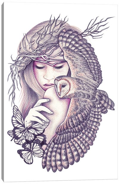 Owl Spirit Canvas Art Print