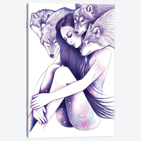 Raised By Wolves Canvas Print #AHR28} by Andrea Hrnjak Canvas Artwork