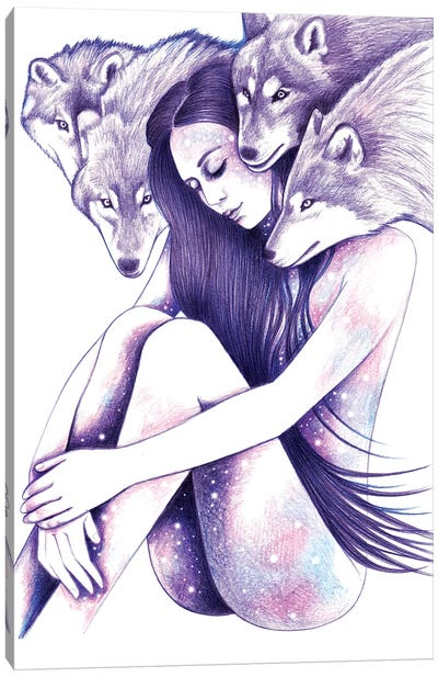 Raised By Wolves Canvas Art Print