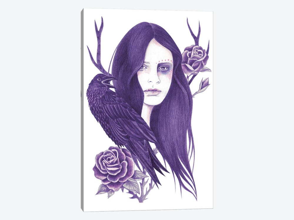 Raven by Andrea Hrnjak 1-piece Canvas Artwork