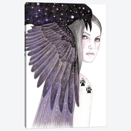 Black Bird Canvas Print #AHR2} by Andrea Hrnjak Canvas Art Print