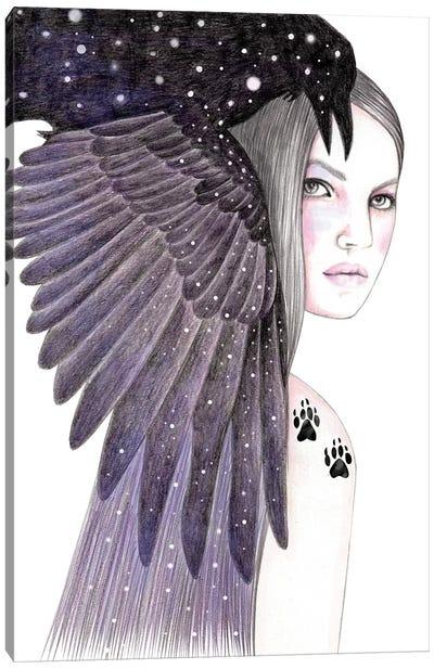 Black Bird Canvas Art Print