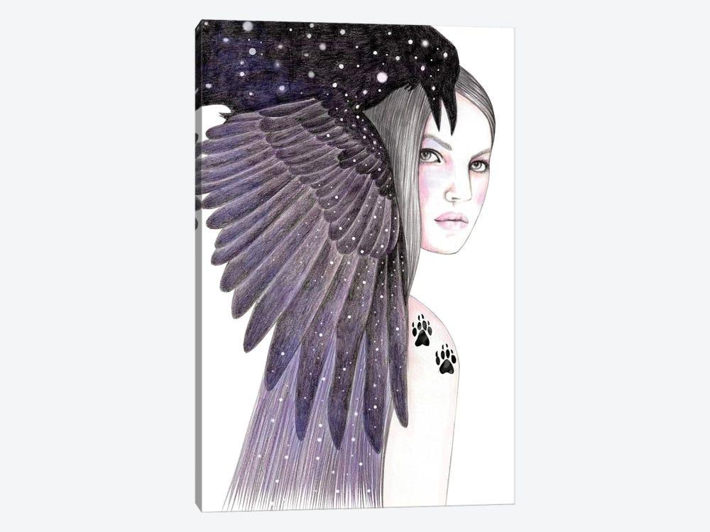 Black Bird by Andrea Hrnjak 1-piece Canvas Wall Art