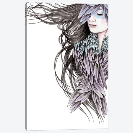 Raven Wings Canvas Print #AHR30} by Andrea Hrnjak Art Print