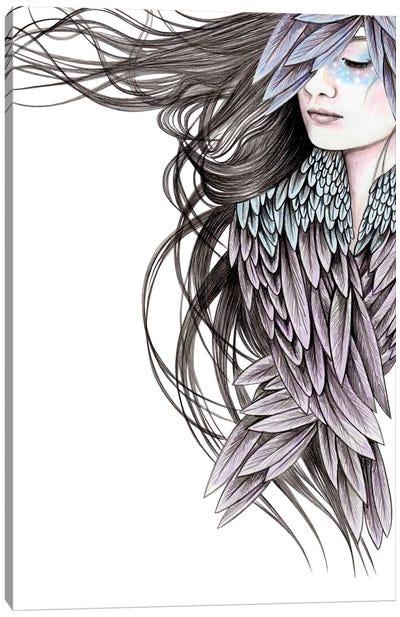Raven Wings Canvas Art Print
