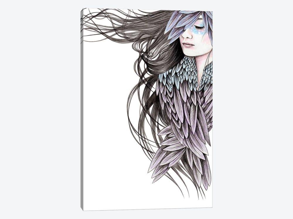 Raven Wings by Andrea Hrnjak 1-piece Canvas Wall Art