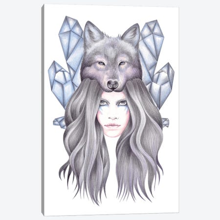 She Wolf Canvas Print #AHR35} by Andrea Hrnjak Canvas Art