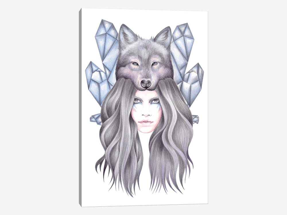 She Wolf by Andrea Hrnjak 1-piece Canvas Print