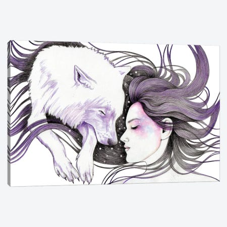 Sleep Like Wolves Canvas Print #AHR37} by Andrea Hrnjak Canvas Art