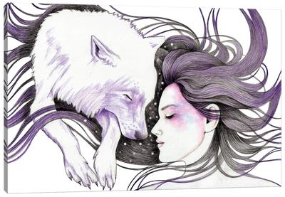 Sleep Like Wolves Canvas Art Print
