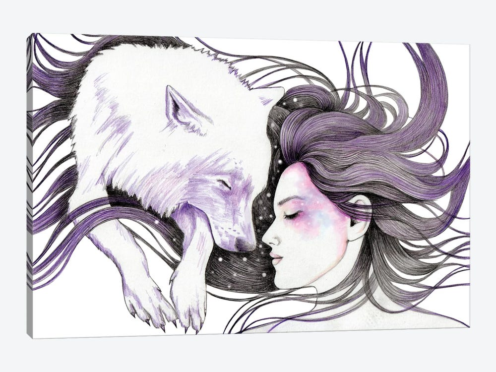 Sleep Like Wolves by Andrea Hrnjak 1-piece Canvas Print