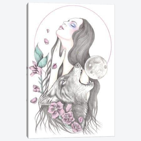 Sun Moon Canvas Print #AHR40} by Andrea Hrnjak Canvas Artwork