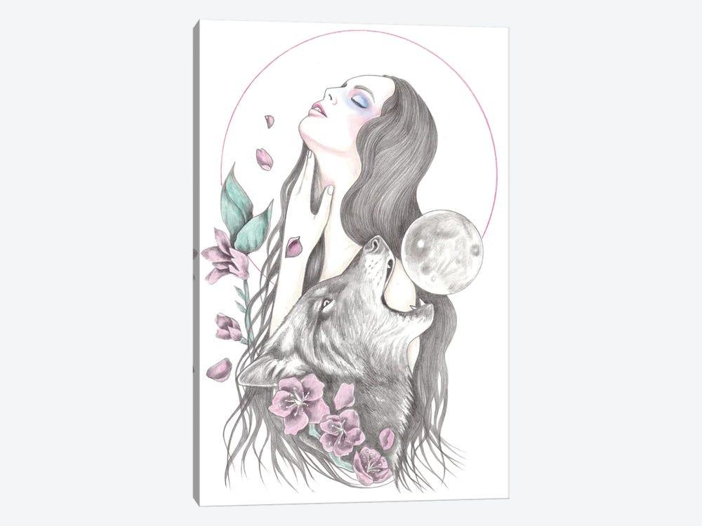 Sun Moon by Andrea Hrnjak 1-piece Canvas Art Print