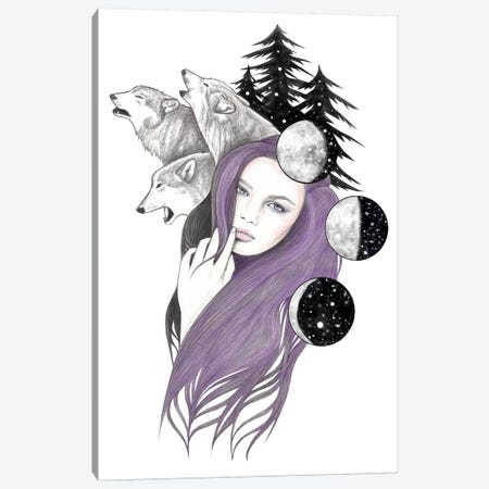 Three Moons Canvas Print #AHR41} by Andrea Hrnjak Canvas Wall Art