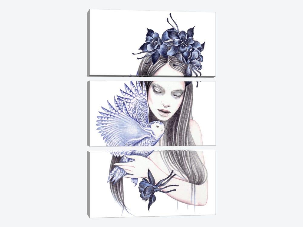 Wild Flower by Andrea Hrnjak 3-piece Art Print