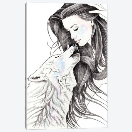 Witch Wolf Canvas Print #AHR45} by Andrea Hrnjak Canvas Art Print
