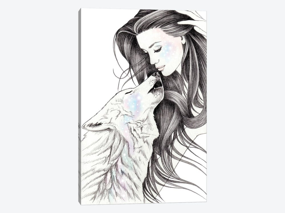 Witch Wolf by Andrea Hrnjak 1-piece Canvas Art