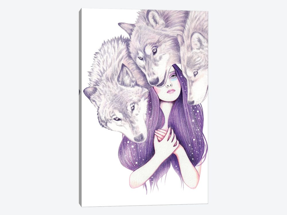 Wolf Pack by Andrea Hrnjak 1-piece Canvas Art