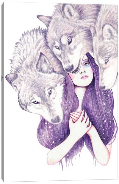 Wolf Pack Canvas Art Print