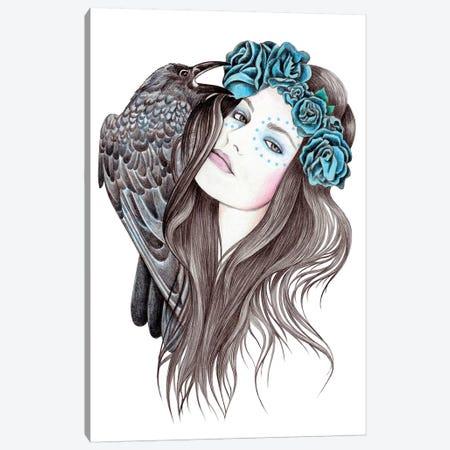 Blue Moon Canvas Print #AHR4} by Andrea Hrnjak Canvas Art