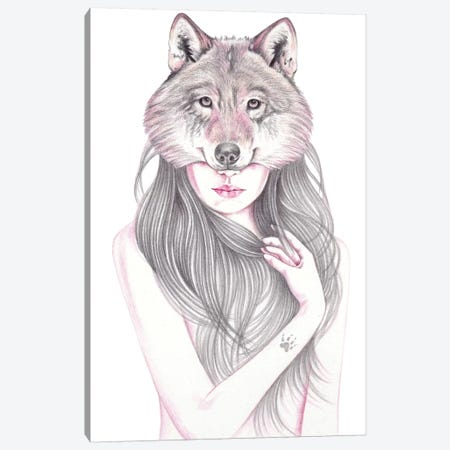 Wolfheart Canvas Print #AHR50} by Andrea Hrnjak Canvas Print