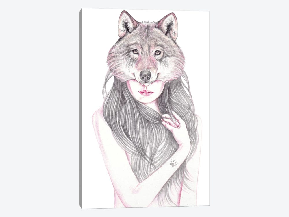 Wolfheart by Andrea Hrnjak 1-piece Canvas Wall Art